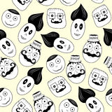 Faces seamless pattern. Royalty Free Stock Image