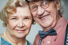 Faces of seniors Royalty Free Stock Images
