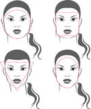 Faces shapes Royalty Free Stock Images