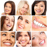 Faces, smiles and teeth royalty free stock photos