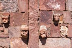Faces in Tiwanaku Stock Photos