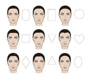 Faces types stock illustration