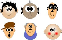 Faces of various ages Royalty Free Stock Images
