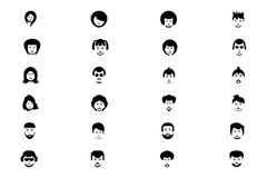 Faces Vector Icons 1 Stock Image