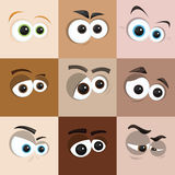 Faces. Vector set of face close ups Royalty Free Stock Photography