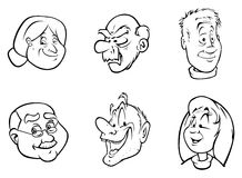 Faces velhas Foto de Stock Royalty Free