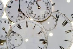 Faces velhas do relógio Imagem de Stock Royalty Free