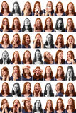Faces - Woman Expressions Stock Images