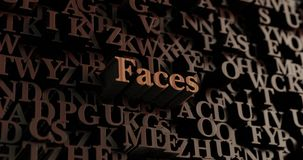 Faces - Wooden 3D rendered letters/message Stock Photo