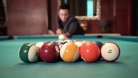 Facet bawić się billiards zbiory