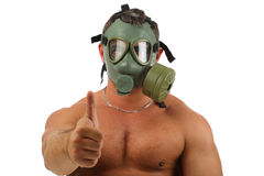 facet benzynowa maska fotografia stock