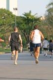 facet biegać Zdjęcia Royalty Free