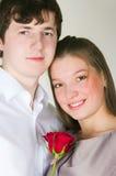 Facet i dziewczyna Zdjęcie Royalty Free