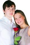 Facet i dziewczyna Zdjęcia Royalty Free