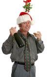 facet na przyjęcie świąteczne zdjęcia stock