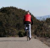 facet na rowerze fotografia stock