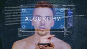 Facet oddziała wzajemnie HUD holograma algorytm zdjęcie wideo