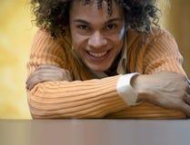 facet smiling06 zdjęcie stock