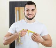 Facet sprawdza sprawność fizyczna rezultaty Fotografia Stock