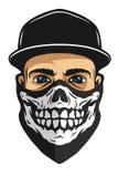 Facet w bandany z czaszka wzorem Zdjęcie Stock
