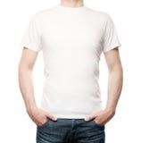 Facet w koszulce obrazy stock