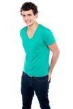 Facet w modnej przypadkowej odzieży target1341_0_ w stylu Obrazy Stock