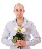 Facet z różami Zdjęcie Stock