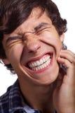Facet z silnym toothache zdjęcie royalty free