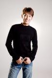 faceta azjatykci życzliwy uśmiech Fotografia Stock