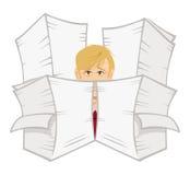 faceta biura papierkowa robota Zdjęcie Royalty Free