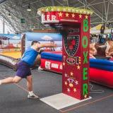 Faceta ciupnięcia punchball przy Kołysać Parkowego wydarzenie wewnątrz Obrazy Royalty Free