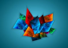 Faceta colorida abstracta, vector Fotografía de archivo