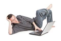 faceta laptop zdjęcia royalty free