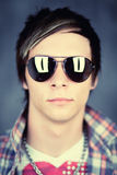 faceta okularów przeciwsłoneczne target1925_0_ Zdjęcie Royalty Free