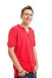 faceta smiley słuchający muzyczny Fotografia Royalty Free