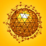 Faceted abstract sphere structure background Stock Photo