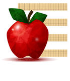 Faceted apple Royalty Free Stock Image