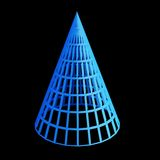 Faceted blue 3d cone Royalty Free Stock Photo