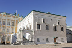 The faceted chamber in the Moscow Kremlin on a Sunny day, Royalty Free Stock Images