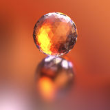 Faceted crystal sphere Royalty Free Stock Photography