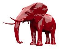 Faceted czerwony słoń Fotografia Royalty Free