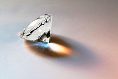 Faceted diamond Royalty Free Stock Photos