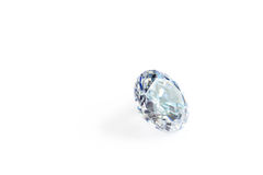 Faceted diamond of blue color in macro Stock Photo