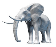 Faceted elephant isolated Stock Images