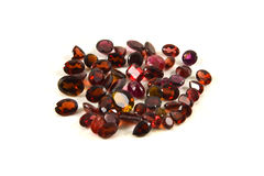 Faceted garnets Royalty Free Stock Images