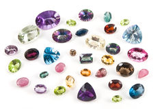 faceted gemstones Zdjęcia Royalty Free
