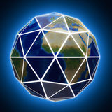 Faceted globe with white edges. Stock Photos