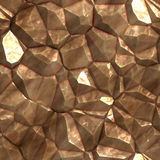 Faceted ore deposits. Crystalline mineral and metal shiny faceted ore deposits Royalty Free Stock Photo