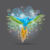 Faceted parrot Royalty Free Stock Photography