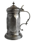 Faceted Pewter tankard Royalty Free Stock Photography